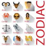 Zodiaco ed ombra su terra bianca Fotografia Stock