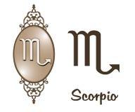 Zodiaco - escorpión Imagenes de archivo