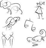 Zodiaco impostato - 2 royalty illustrazione gratis
