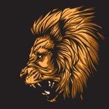 Zodiaco Leo Black Fotografia Stock