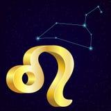 Zodiaco leo del oro libre illustration