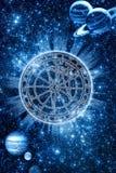 Zodiaco místico Imágenes de archivo libres de regalías