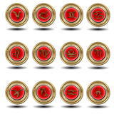 Zodiaco rojo del sello fotos de archivo
