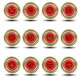 Zodiaco rosso della guarnizione Fotografie Stock