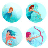 Zodiact: Virgo, Libra, Scorpio, Sagittarius Imagens de Stock Royalty Free