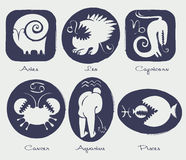 Zodiactecken stock illustrationer
