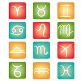 Zodiaków guziki Zdjęcia Stock