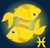 Zodiaków Pisces znak ilustracja wektor