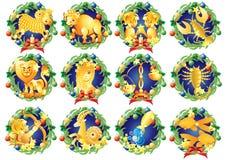 Zodiaków znaki Fotografia Stock