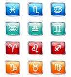 Zodiaków znaki Obrazy Stock