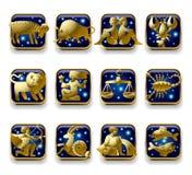 Zodiaków znaki Zdjęcia Stock