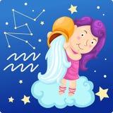 Zodiaków znaki - Aquarius Obraz Royalty Free