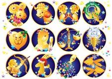 Zodiaków znaki Boże Narodzenia Obraz Royalty Free