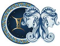 Zodiaków znaki - gemini Obraz Royalty Free
