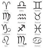 Zodiaków znaki na białym tle Zdjęcie Royalty Free
