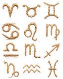 Zodiaków znaki proszek Fotografia Stock