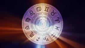 Zodiak astrologii znaki dla horoskopu Zdjęcia Royalty Free