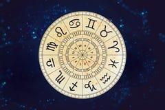 Zodiak astrologii znaki dla horoskopu Obrazy Stock