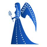 Zodiak astrologisymboler - Jungfru stock illustrationer