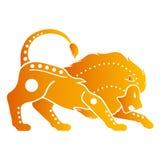 Zodiak astrologisymboler - Lejonet royaltyfri illustrationer