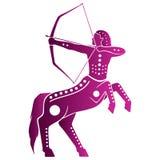 Zodiak astrologisymboler - Sagitarius vektor illustrationer