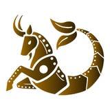 Zodiak astrologisymboler - Stenbocken royaltyfri illustrationer