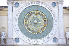 Zodiak clock in Padua, Italy Royalty Free Stock Images