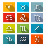 Zodiak - horoskop ikony Ustawiać Obraz Stock