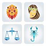 zodiak ikony Zdjęcia Royalty Free