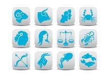 Zodiak ikony Obrazy Stock