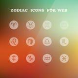 Zodiak ikony dla twój projekta Obraz Stock