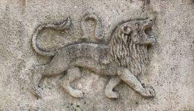Zodiak - lew, kamienna ulga zdjęcie stock