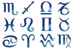 zodiak niebieski Fotografia Royalty Free
