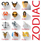 Zodiak och skugga på vitjordning Arkivfoto