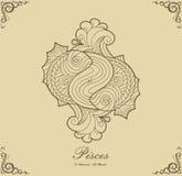 Zodiak Pisces Zdjęcie Royalty Free