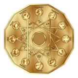 Zodiak podpisuje wewnątrz wieloboka Zdjęcia Royalty Free