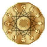 Zodiak podpisuje wewnątrz wieloboka Zdjęcie Stock