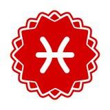 Zodiak sign Pisces. Vector icon Stock Photography