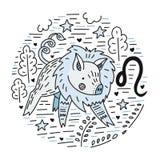 Zodiak Signes Leo ilustracja wektor