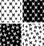 Zodiak Szyldowi Pisces Duzi & Mały Bezszwowy wzoru set Wyrównujący & Przypadkowy royalty ilustracja