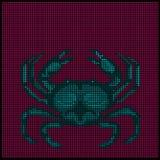 Zodiak undertecknar - cancer - vektor illustrationer