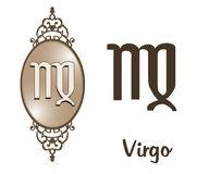 zodiak virgo Fotografia Royalty Free