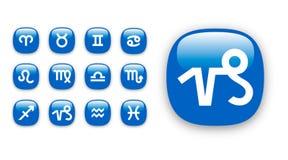 zodiak wektora ikona znaków obraz stock
