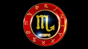 zodiaka scorpio tło zdjęcia stock
