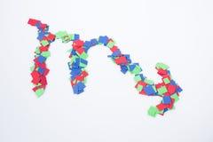 Zodiaka symbolu scorpio multicolor odosobniony w białym tle Zdjęcie Royalty Free