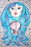 Zodiaka szyldowy Aquarius TARGET688_1_ ręką royalty ilustracja