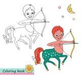 Zodiaka szyldowy Sagittarius Obrazy Stock