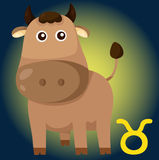 Zodiaka taurus znak royalty ilustracja