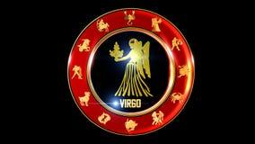 zodiaka virgo tło fotografia stock