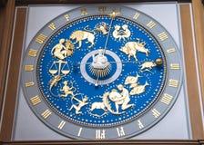 Zodiaka zegar Zdjęcia Royalty Free